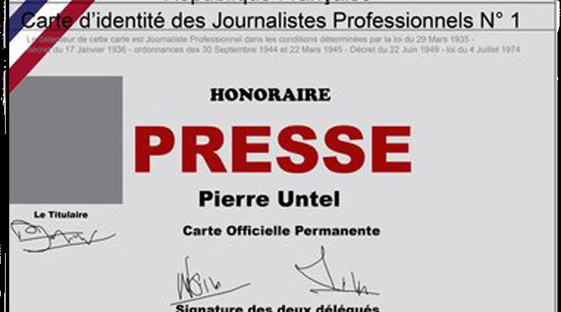 comment obtenir une carte de presse Carte de presse Stéphanie Raynaud  Kyara production